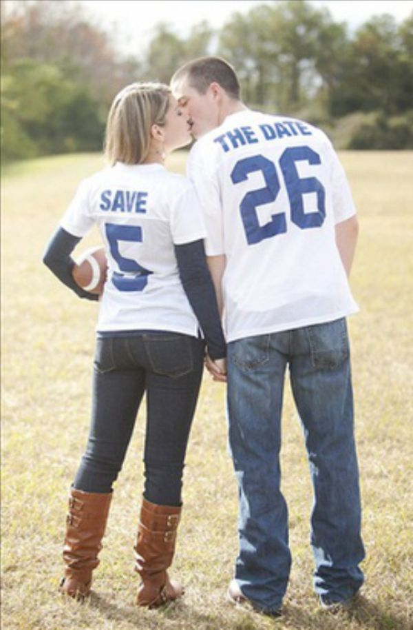 Sports Themed Save the Date Photo