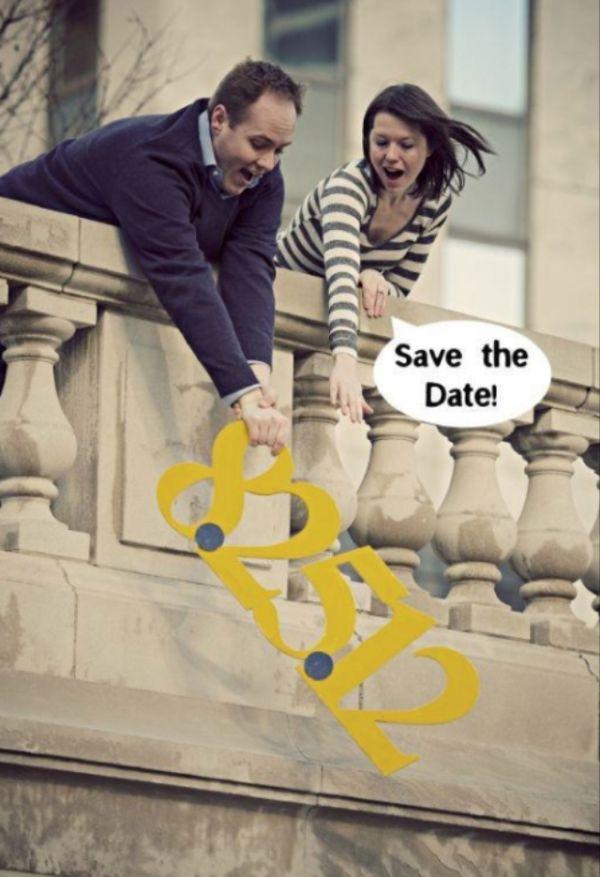 Funny Cute Save the Date Photo Idea