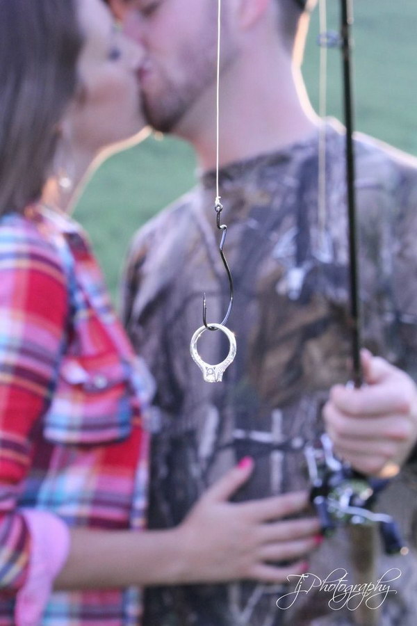 Ring + Fishhook Engagement Save the Date