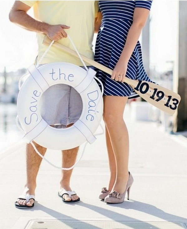 Nautical Save The Date Photo Idea