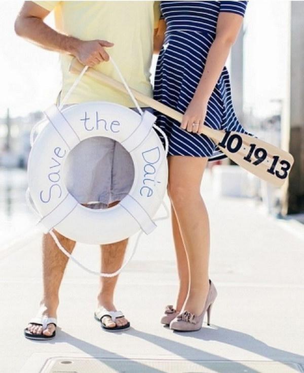 Nautical Save The Date Photo Idea