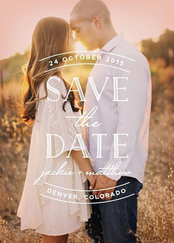 Sweet Embrace Photo Save the Date
