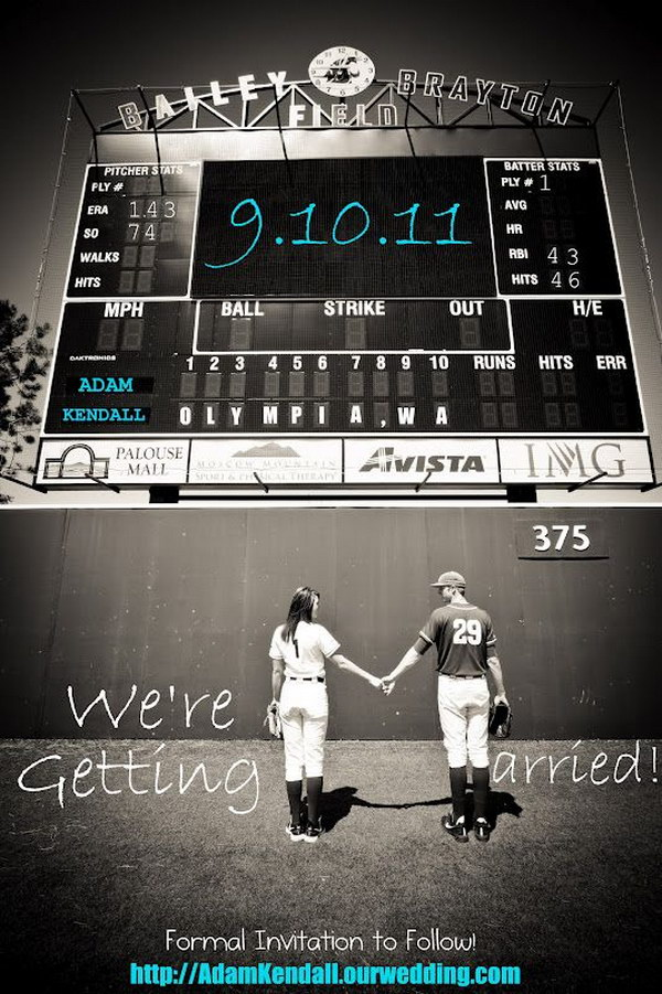 Baseball Wedding Save the Dates