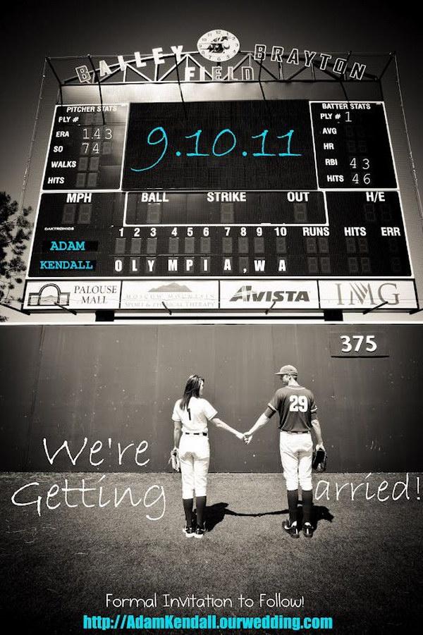 Baseball Wedding Save the Dates