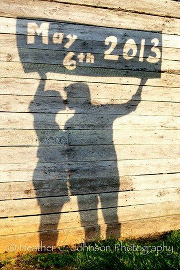 Shadow Save the Date Photo Idea