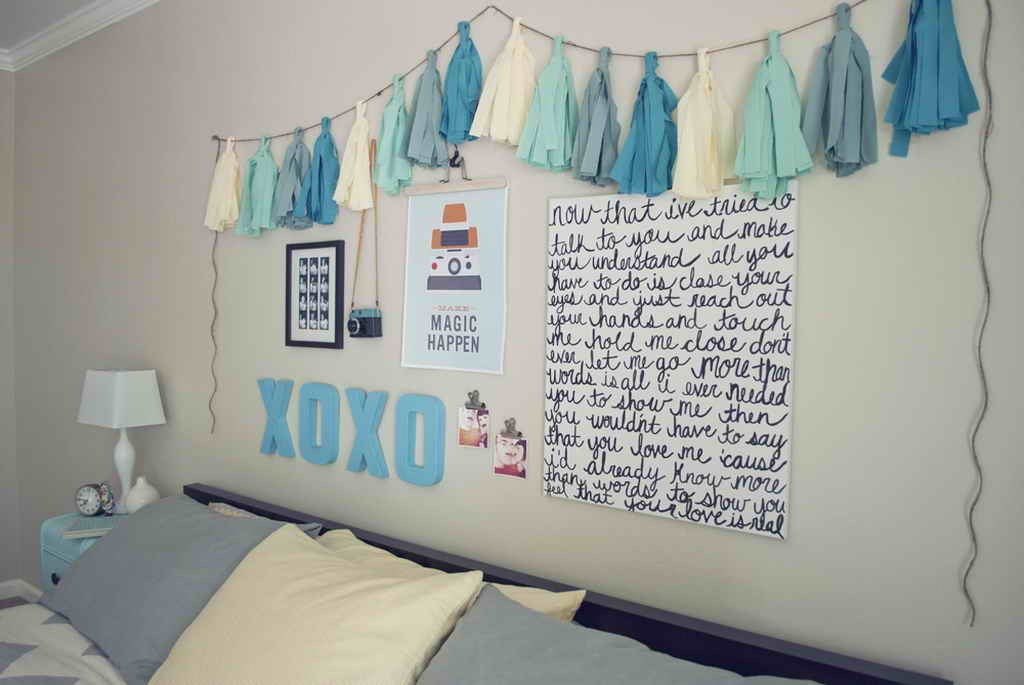 diy cheap and easy wall art - Diy Teenage Bedroom Decorating Ideas