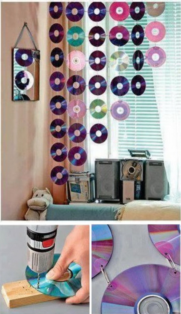 DIY Cute Window Decoration Using Old CDs