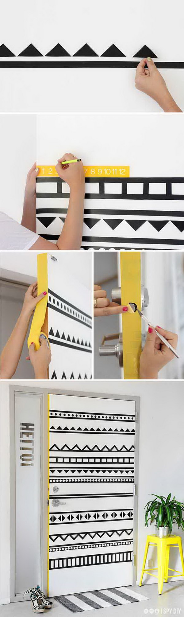 DIY Graphic Door Decorating.