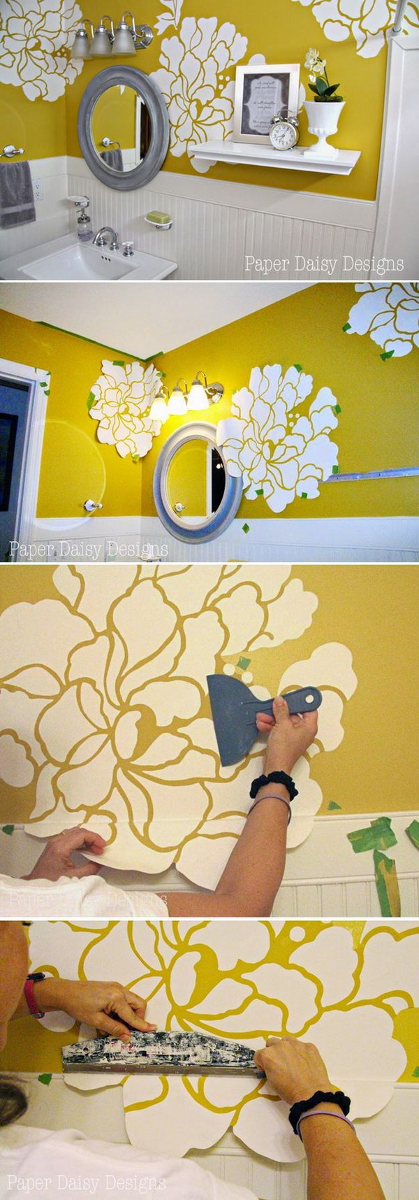 Anthropologie Wall Paper Hack 25 DIY Ideas