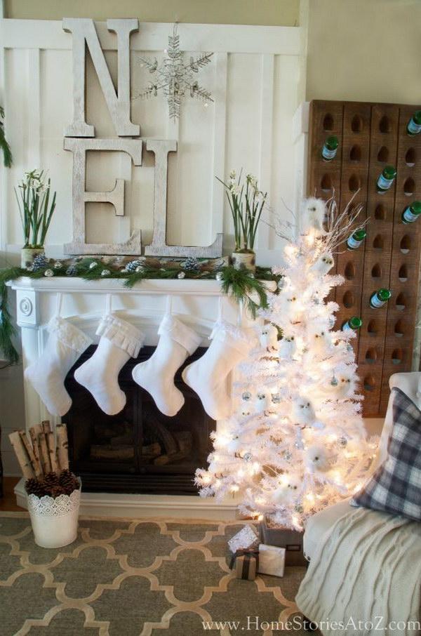 Noel Christmas Mantel