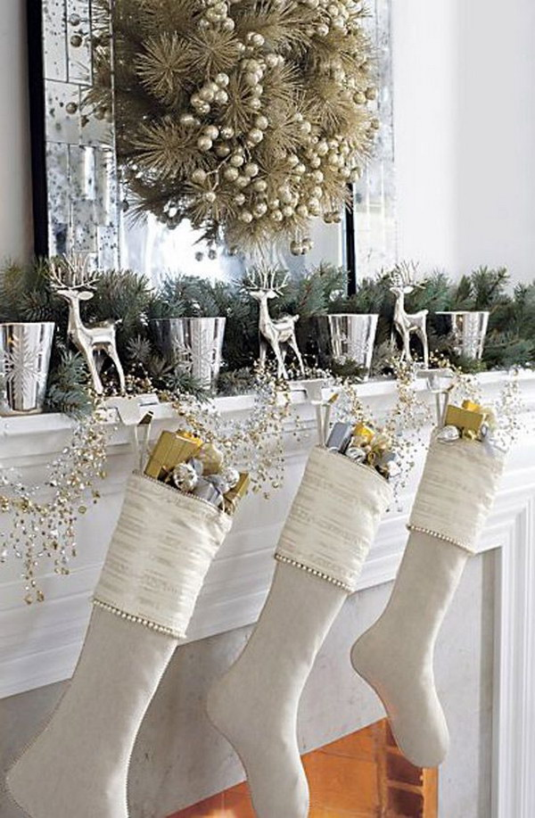 Silver and Gold Mantel