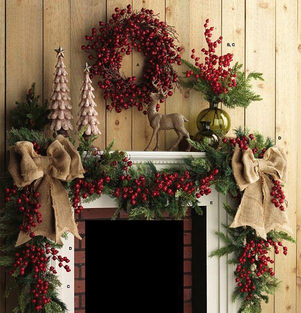Country Christmas Mantel