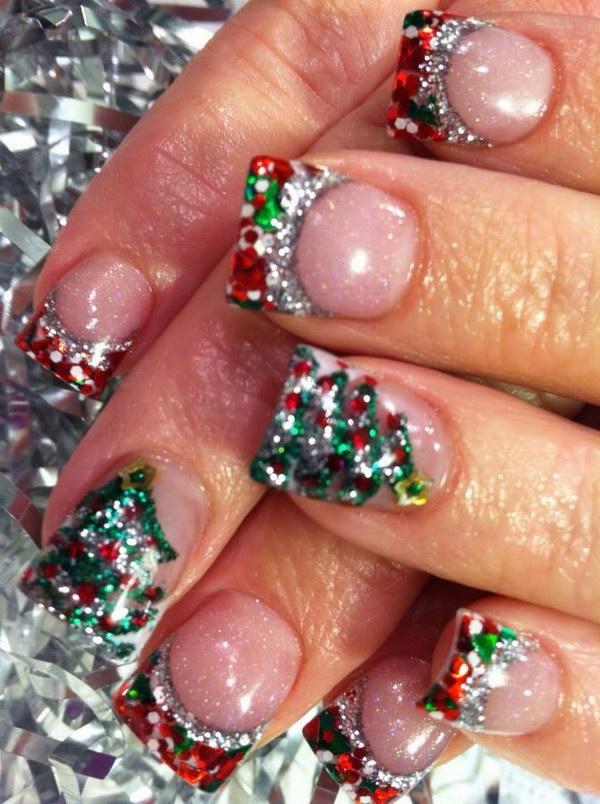 Christmas Glitter Nail Art