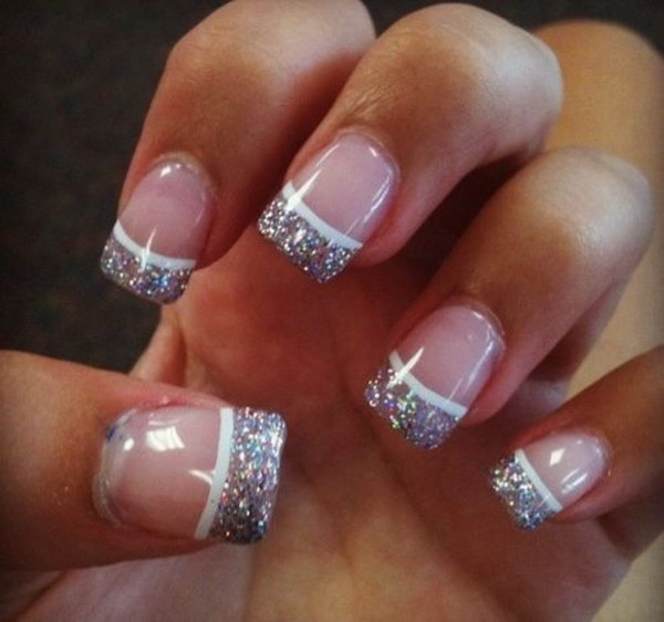 Glitter French Nail Art
