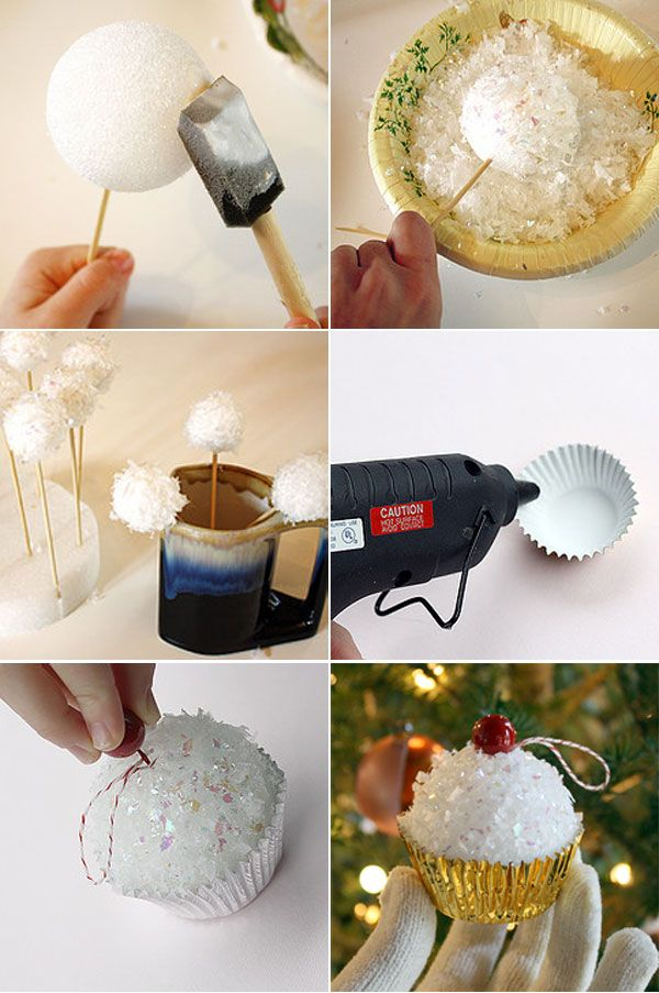 Cupcake Christmas Tree Ornament.