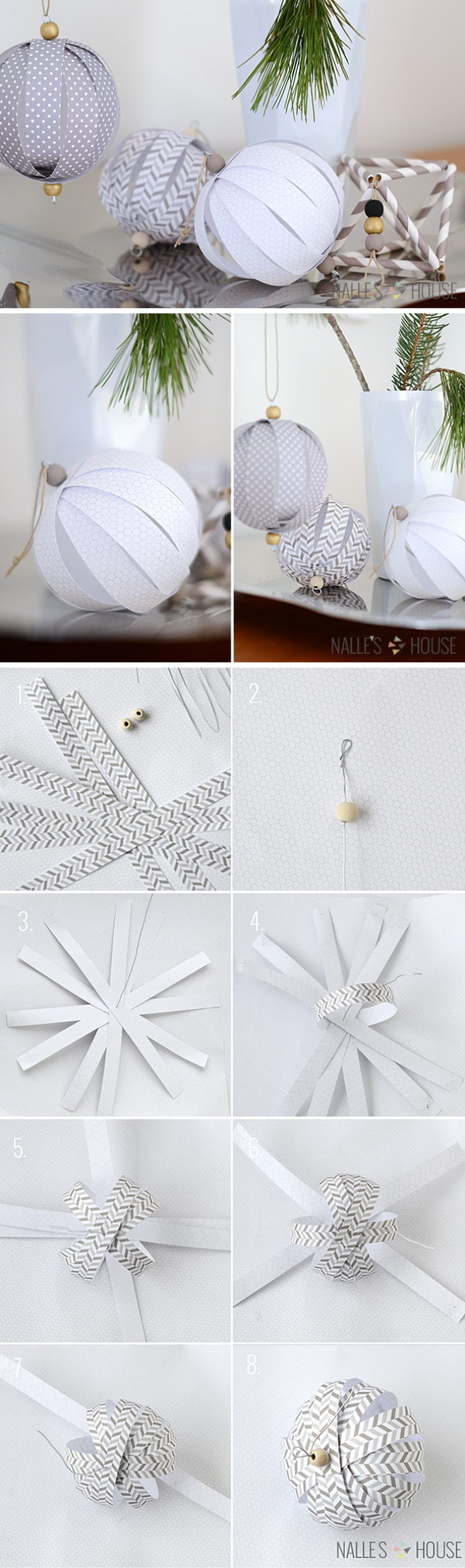 DIY Paper Ball Ornaments.