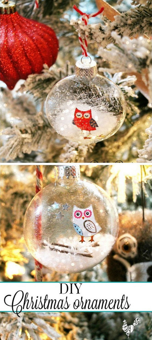 DIY Christmas Glass Ornaments.