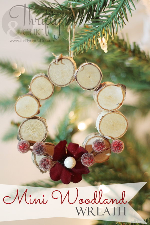 Mini Woodland Wreath Ornament.