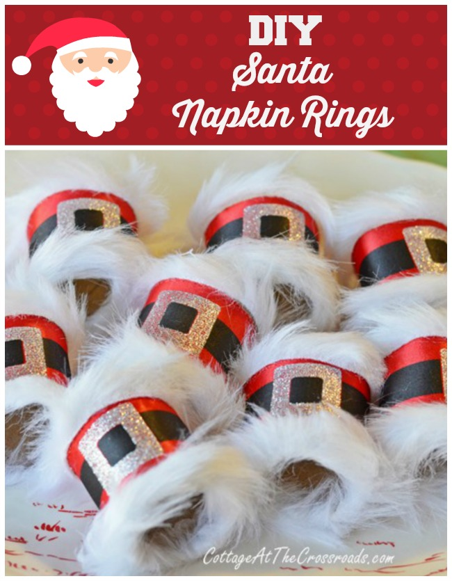 diy santa napkin rings - Cheap Christmas Table Decorations