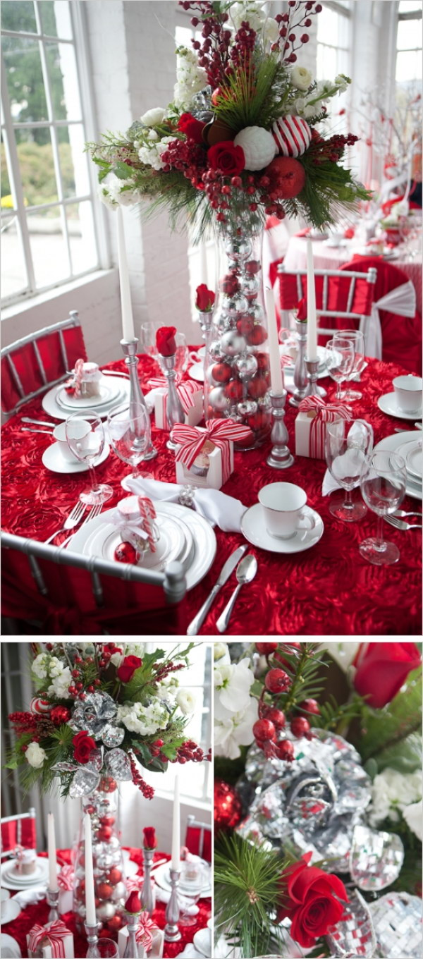 Tremendous Festive Christmas Table Decoration Ideas And Tutorials 2017 Interior Design Ideas Pimpapslepicentreinfo