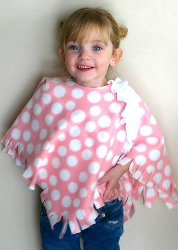 No Sew Toddler Poncho