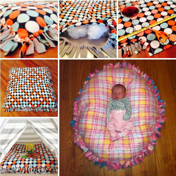 No Sew Floor Pillow