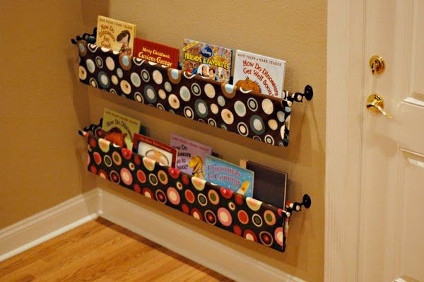 No Sew Fabric Book Storage