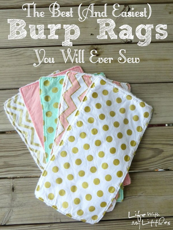 Easy and Soft Sew Burp Rag