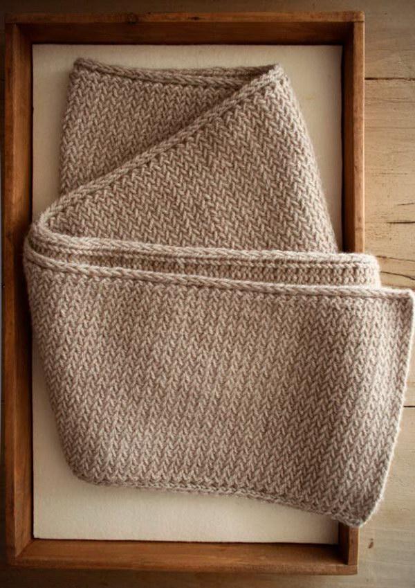 Knitted Herringbone Scarf