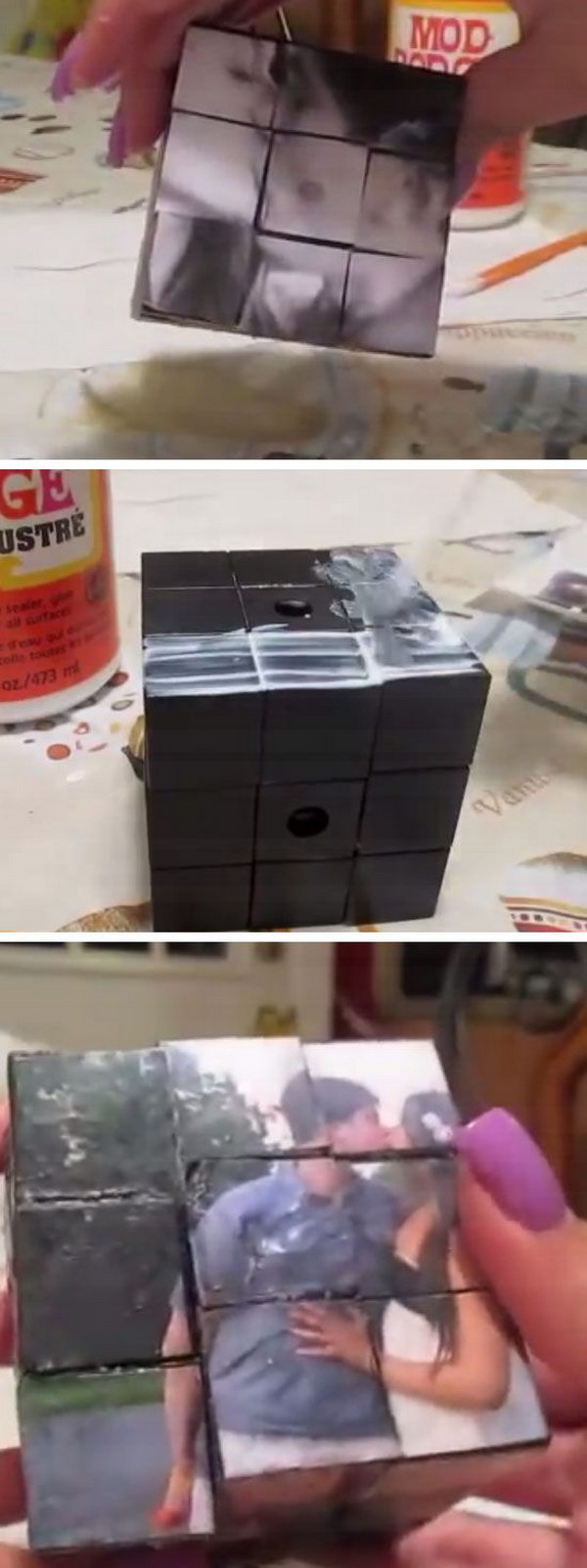 DIY Photo Rubiks Cube