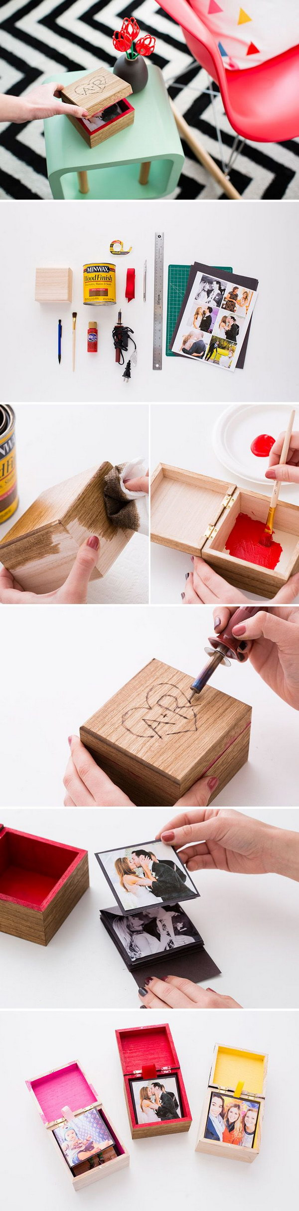 25 diy gifts for him with lots of tutorials 2017 diy pop up photo box solutioingenieria Gallery