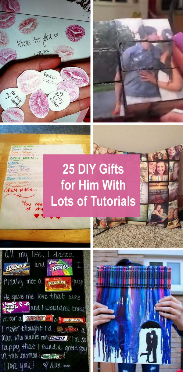 25+ DIY Gifts for Him With Lots of Tutorials