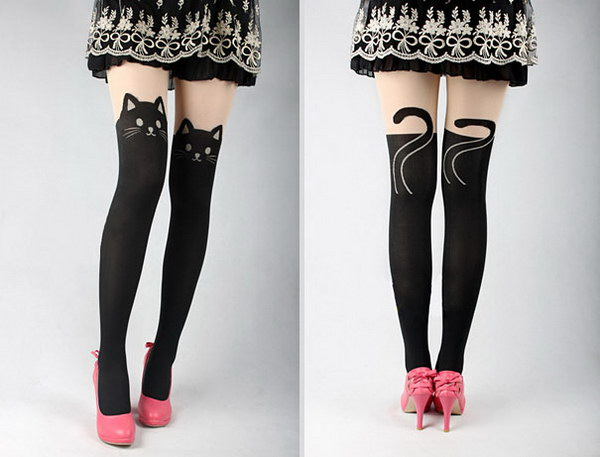 Black Cat Stockings.