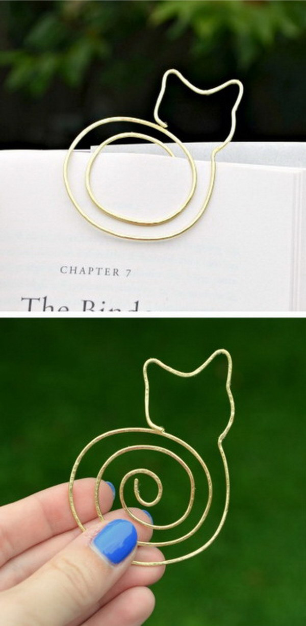 DIY Cat Bookmark.