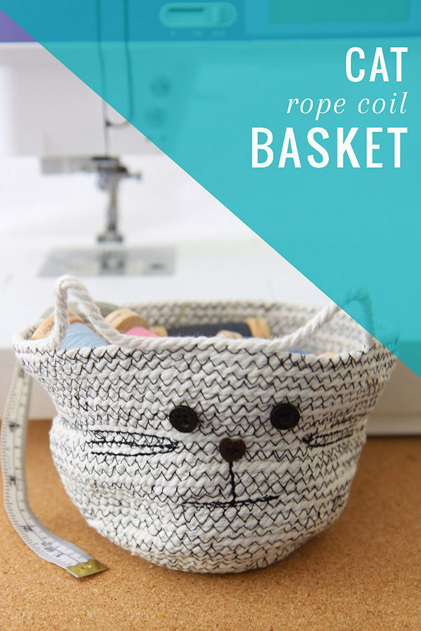 DIY Rope Basket.