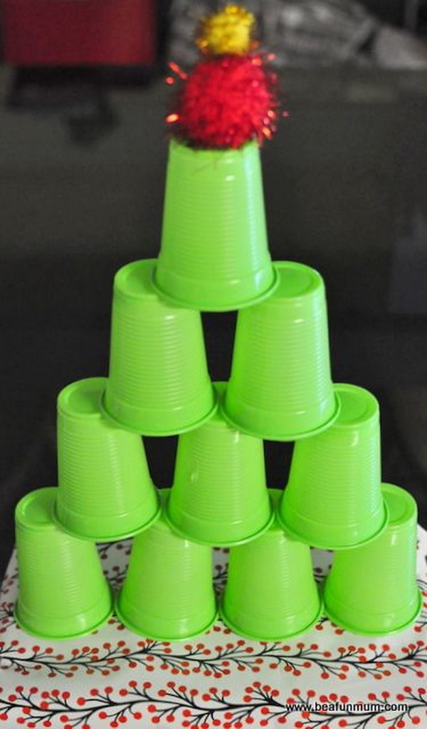 Stack the Cups into a Tree Shape