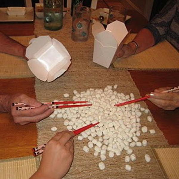 Pick Up Marshmallows Game