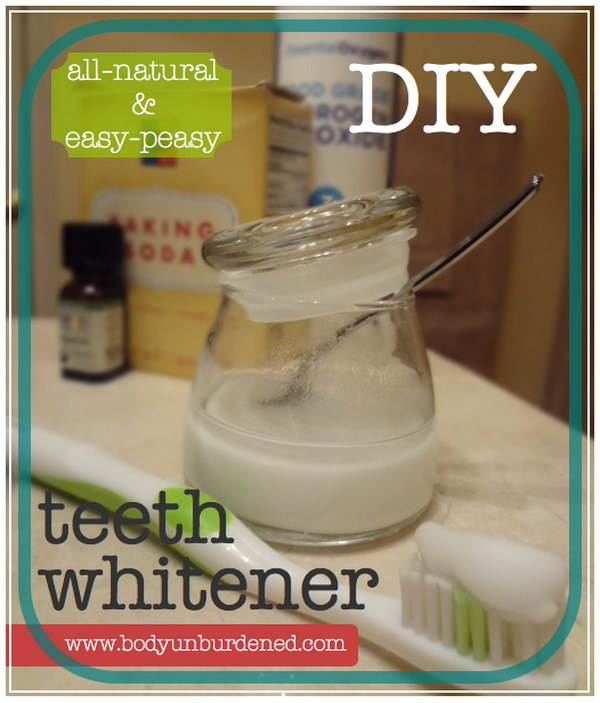 DIY All natural Teeth Whitener.