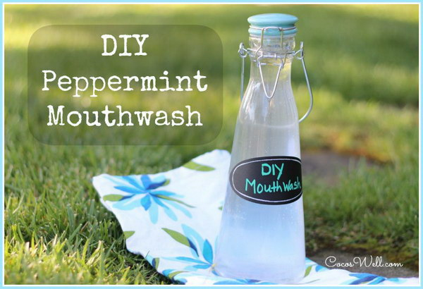 DIY Peppermint Mouthwash.