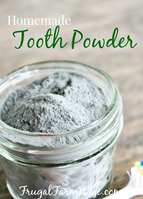 Homemade Tooth Powder.