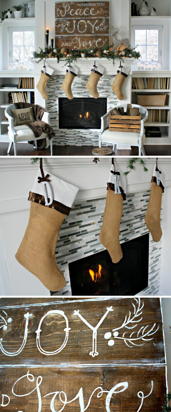 Rustic Christmas Mantel Decorating Ideas