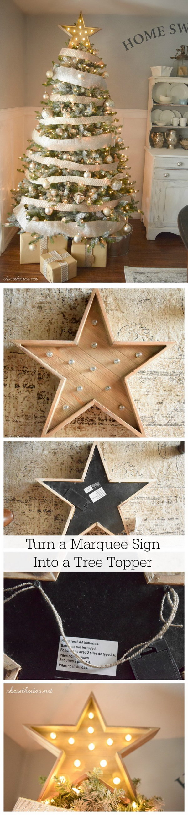 Marquee Star Tree Topper.