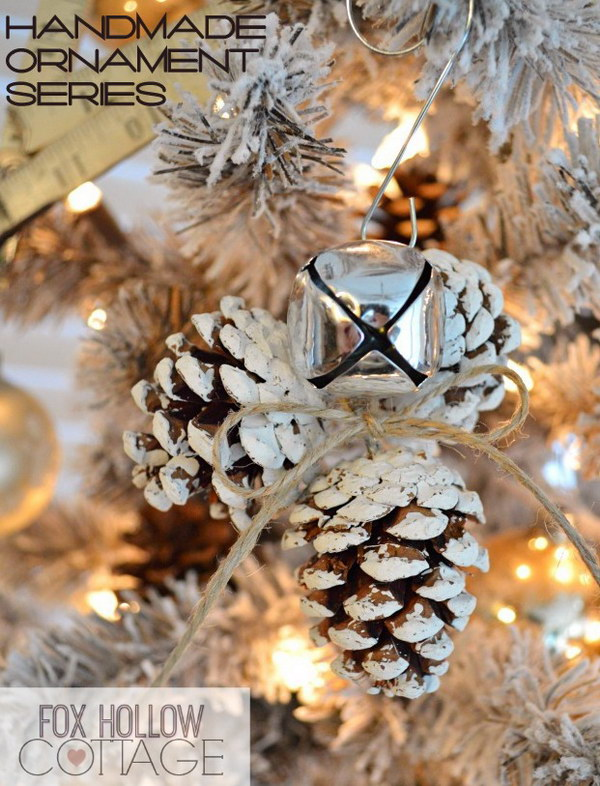 Jingle Bell and Pinecone Ornament.