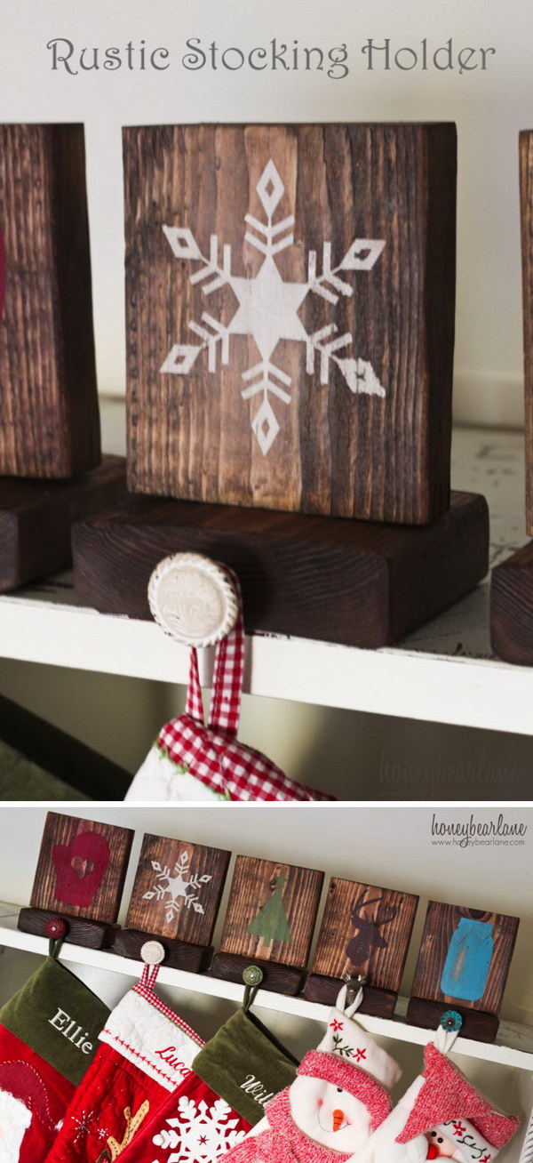Rustic Stocking Holders.