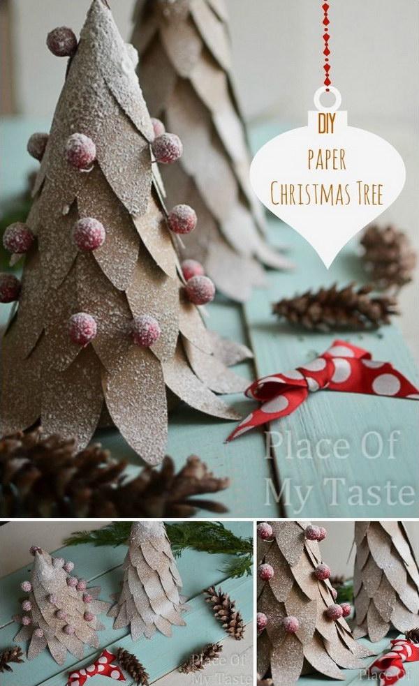 DIY Paper Christmas Tree.
