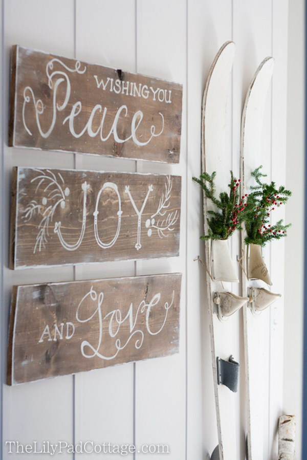 rustic christmas sign - Vintage Rustic Christmas Decorations