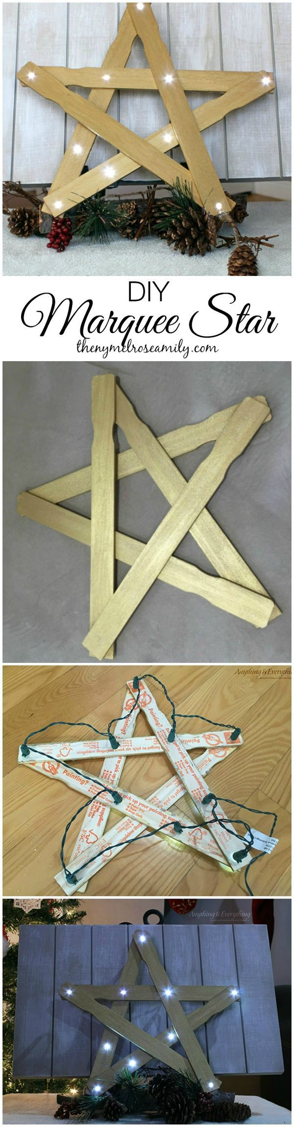 DIY Christmas Decorations: Marquee Star.