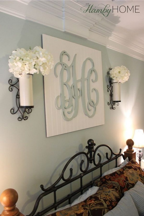 DIY Monogram Wall Art.