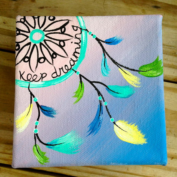 Pastel Dream Catcher Canvas