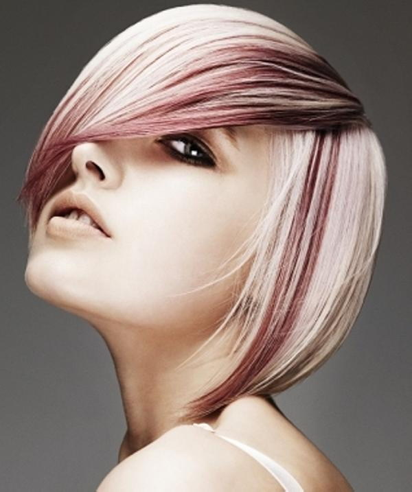 Soft Straight Layers with Dark Red Streaks.